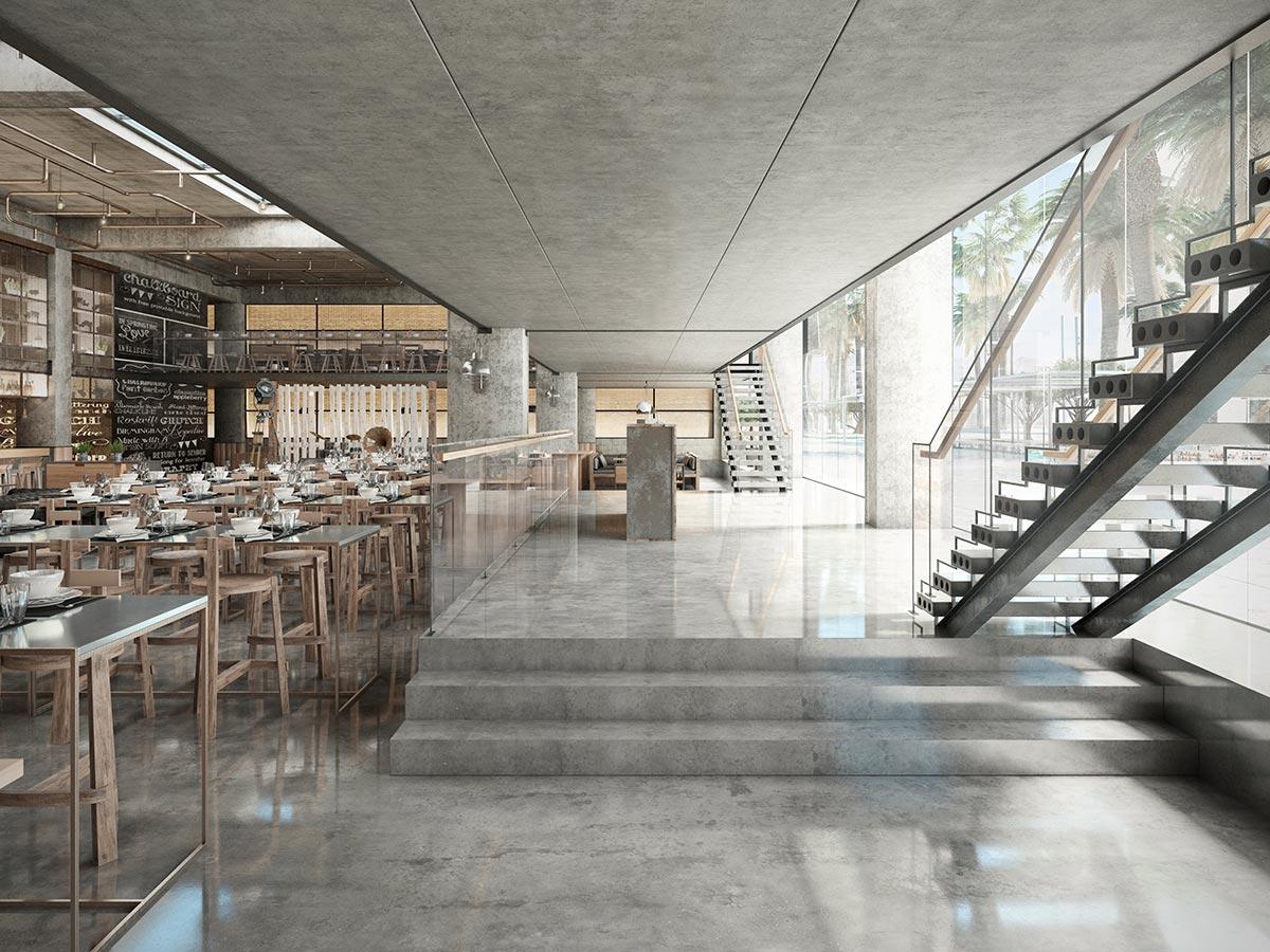 3D rendering restaurant Hurghada