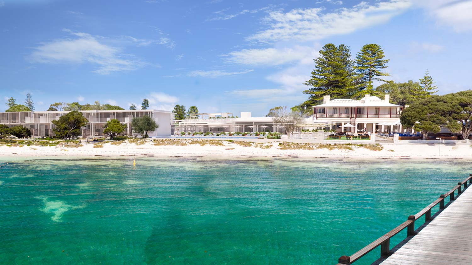 3D visualisation Rottnest Hotel