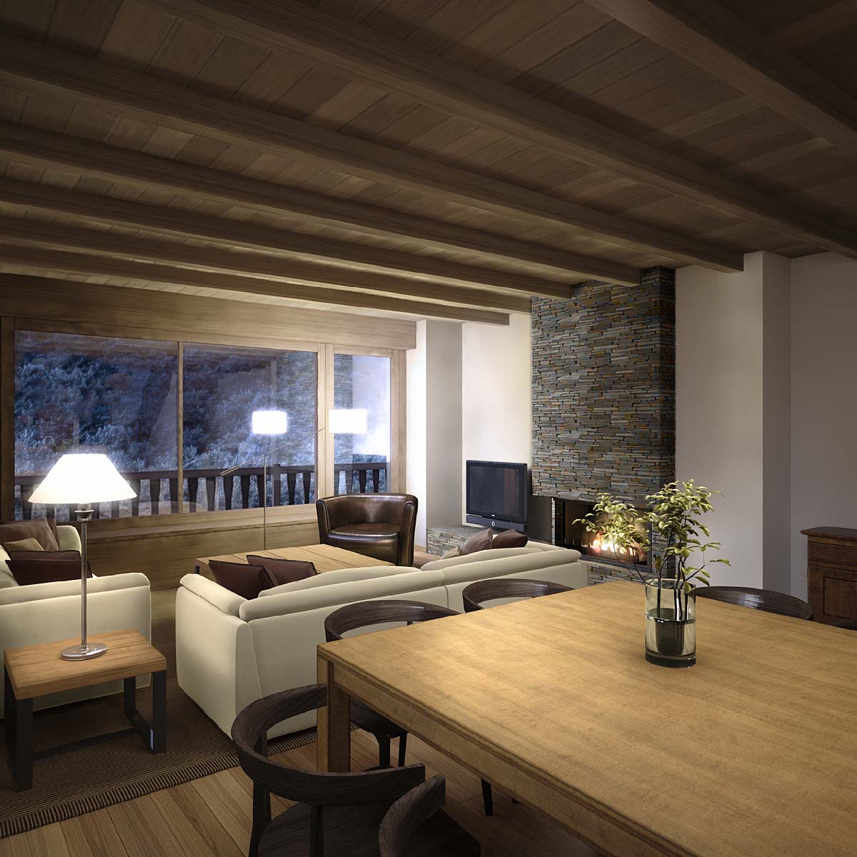 3d architectural rendering baqueira 5