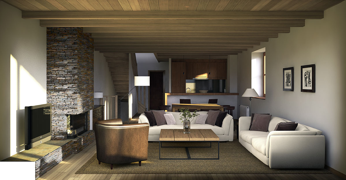 3d architectural rendering baqueira 4