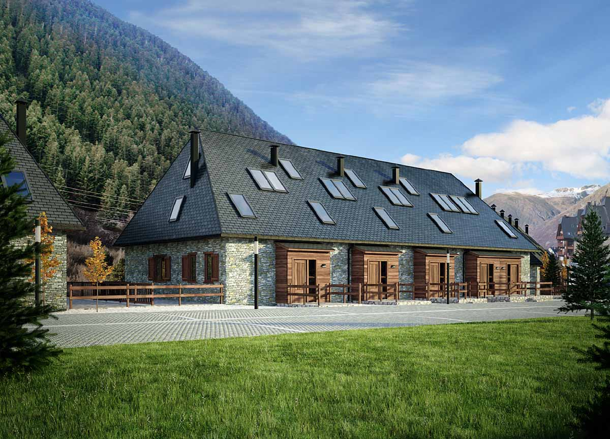 3d architectural rendering baqueira 3