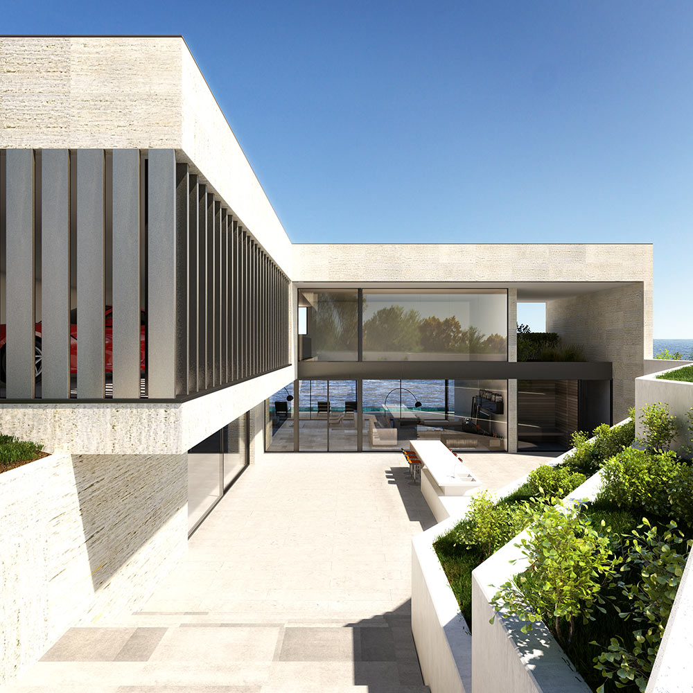3d architecture sigle family home 1