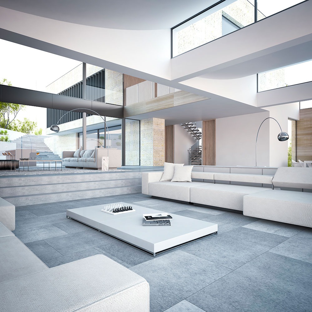 3d architecture sigle family home 2