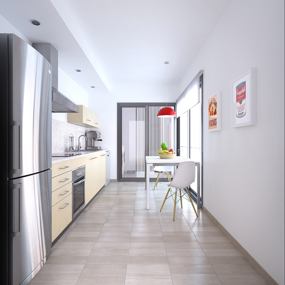 3d interior design kitchen room ibiza
