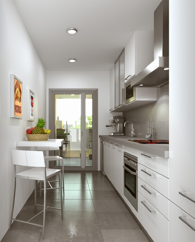 3d interior visualisation kitchen