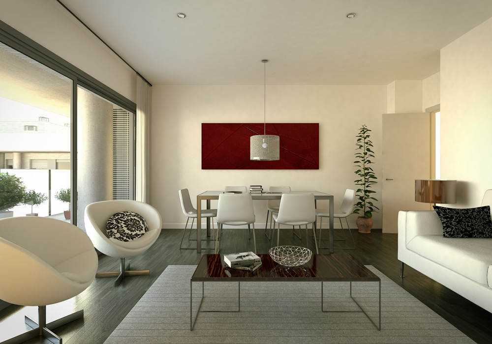 3d interior visualisation living room 2