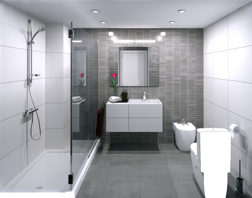 3d interior visualisation bathroom