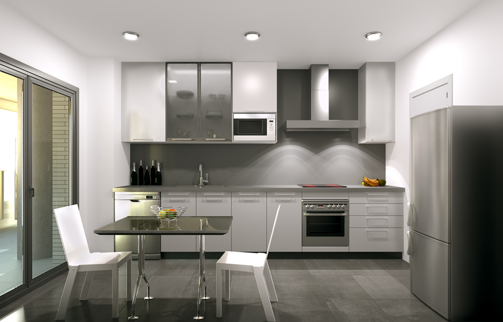 3d interior visualisation kitchen 2