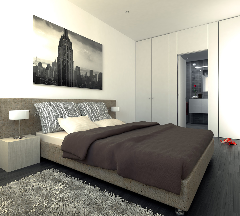 3d interior visualisation bedroom