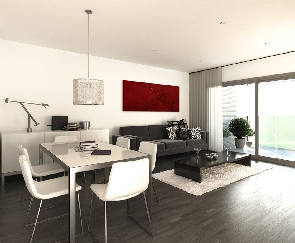 3d interior visualisation living room