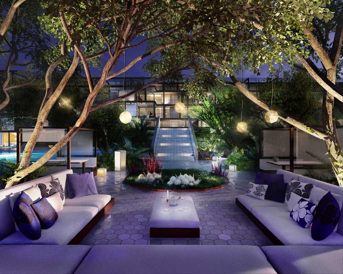 3D rendering hotel in Marbella