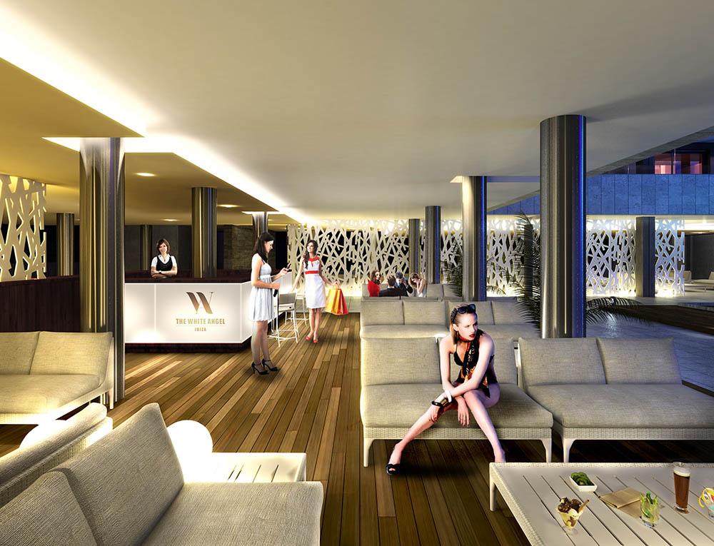 3d lounge bar visualisation 1