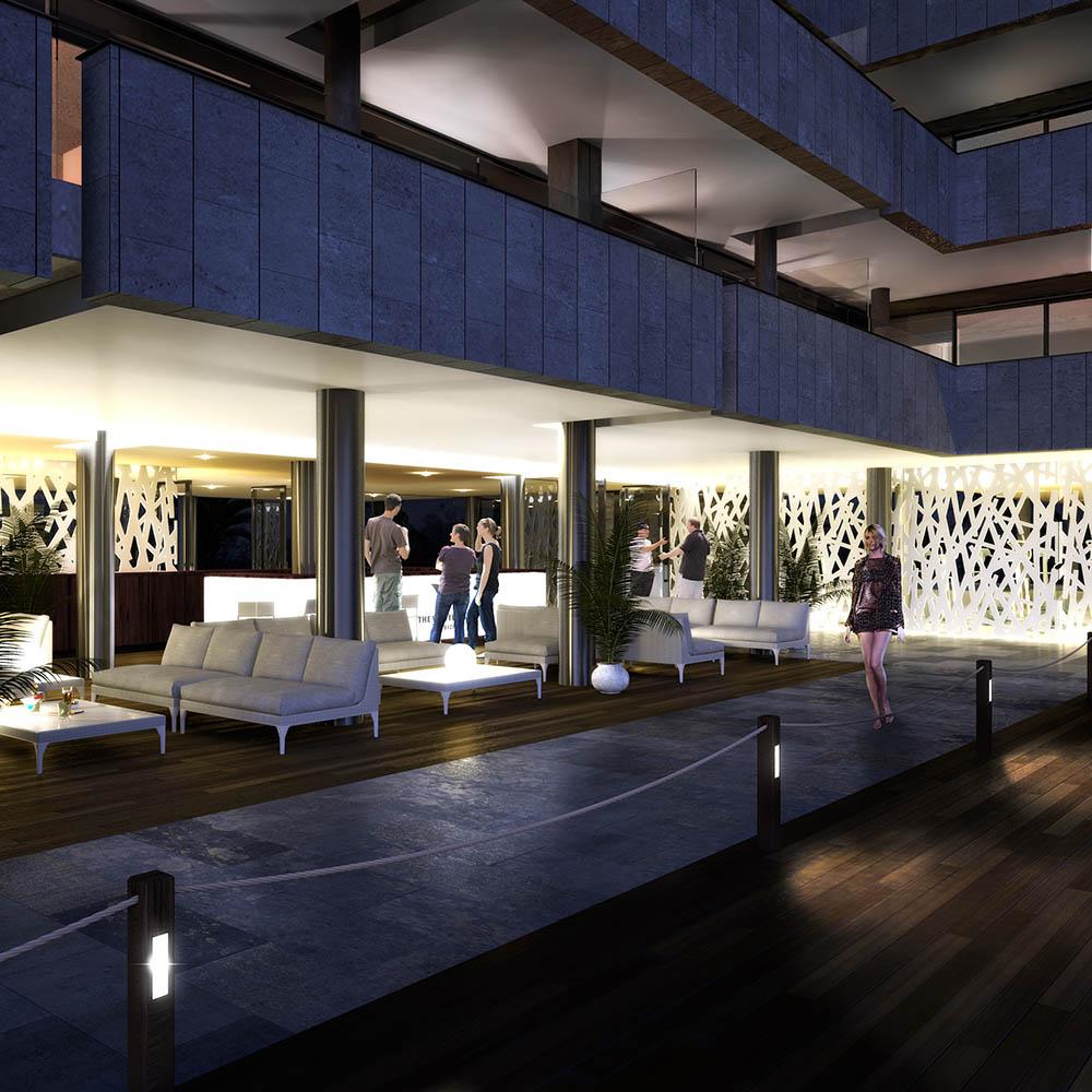 3d lounge bar visualisation 2