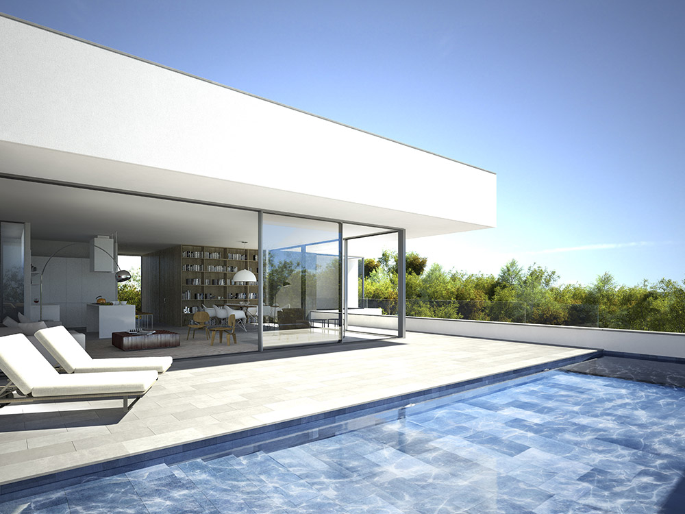 3d visualisation luxury house ibiza