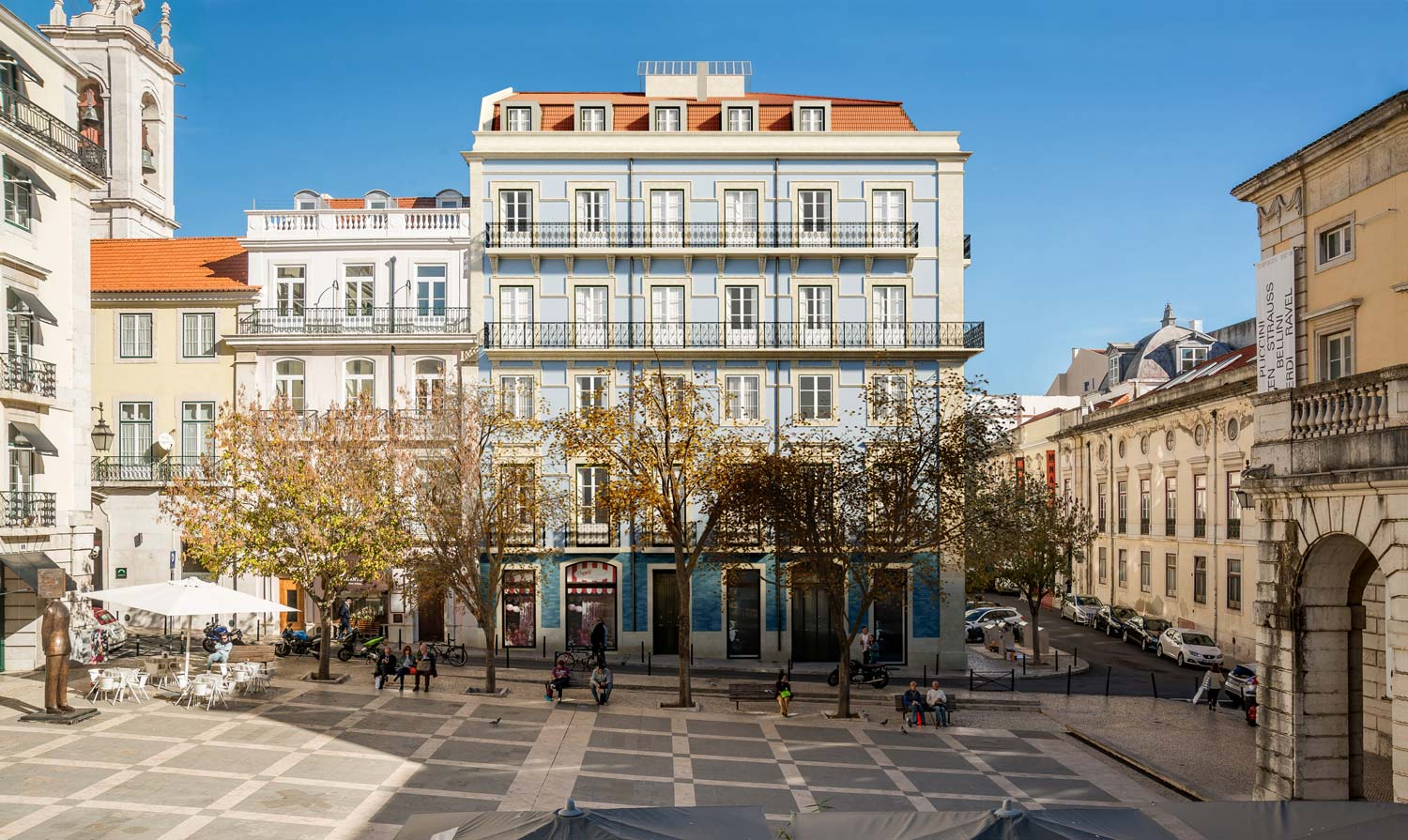 Architectural rendering building Lisbon