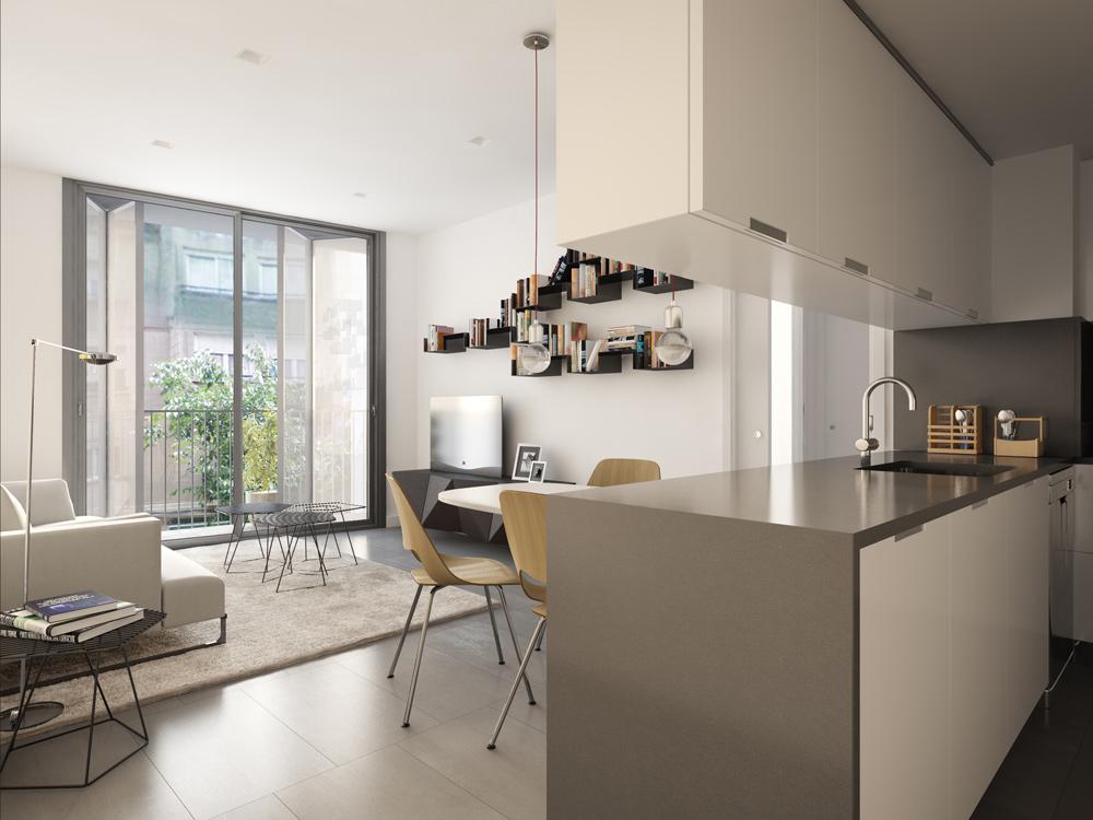 Rendering-3d-block-flats