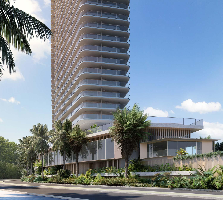 Rendering River Terrace tower