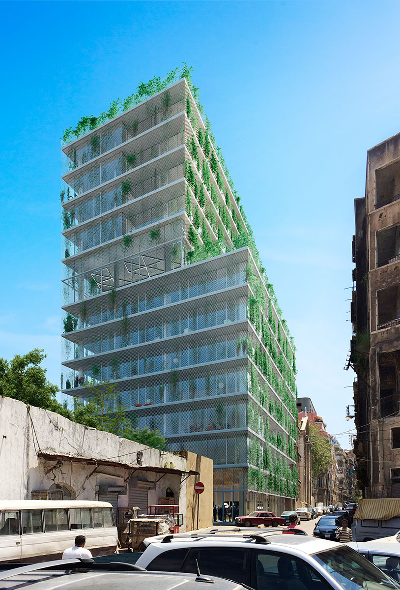 architectural rendering building beirut