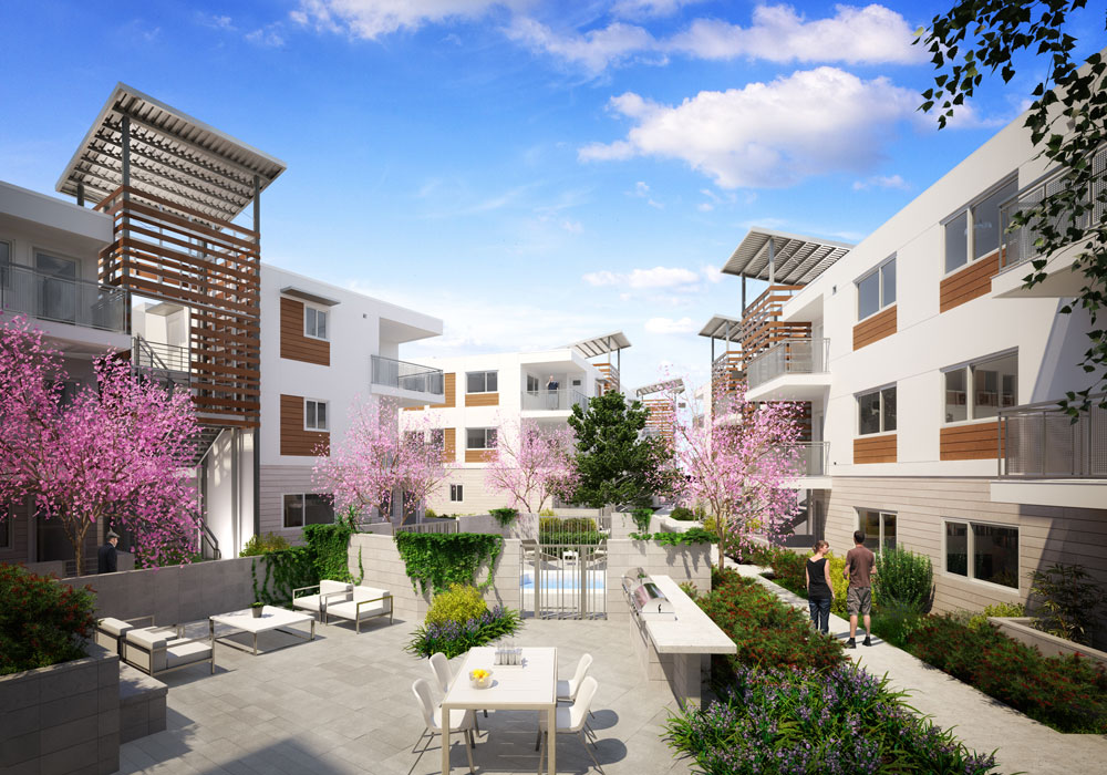 architectural-rendering-courtyard-community-LA-2