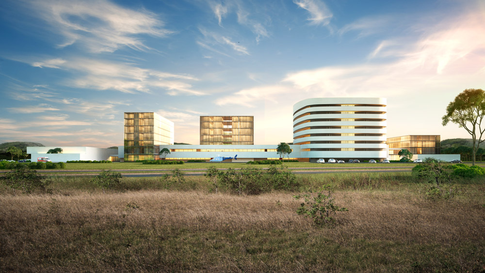 architectural rendering hospital panama