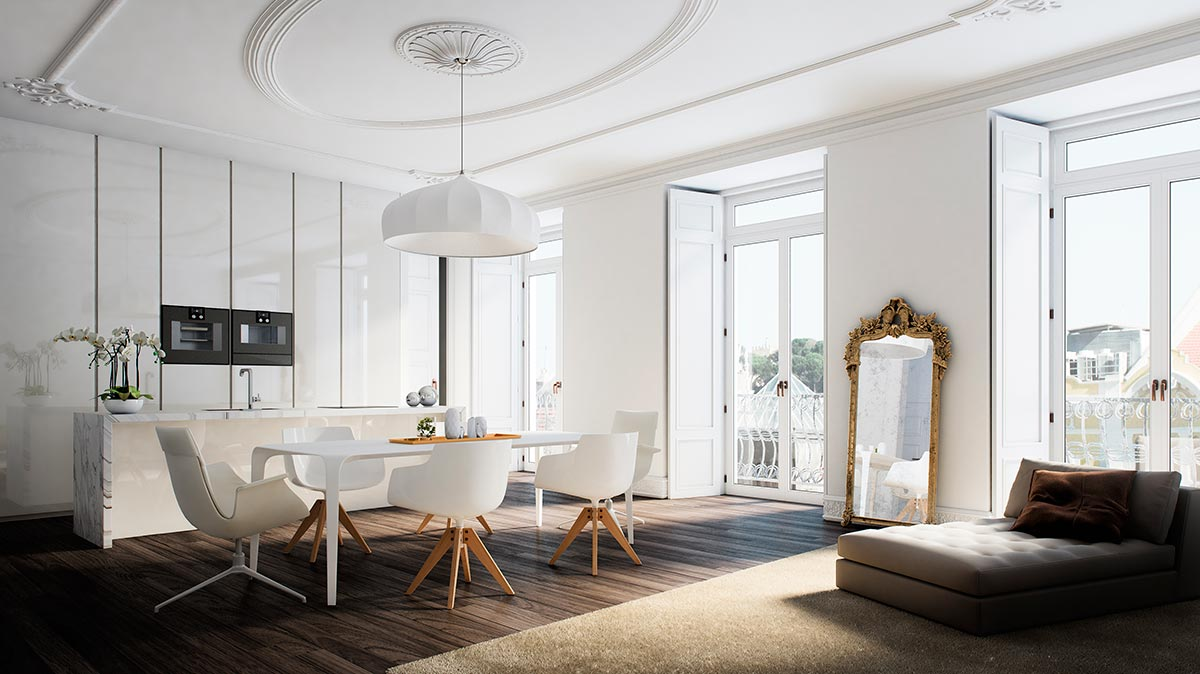 Architectural rendering apartments in Lisbon