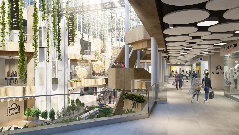 Architectural rendering Malaga Plaza