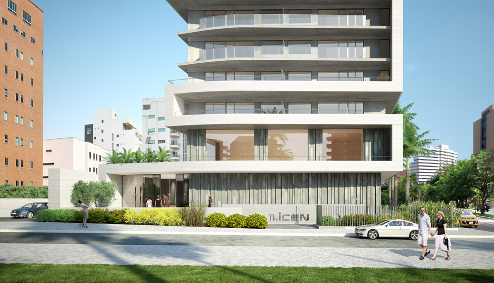 architectural rendering residencial tower