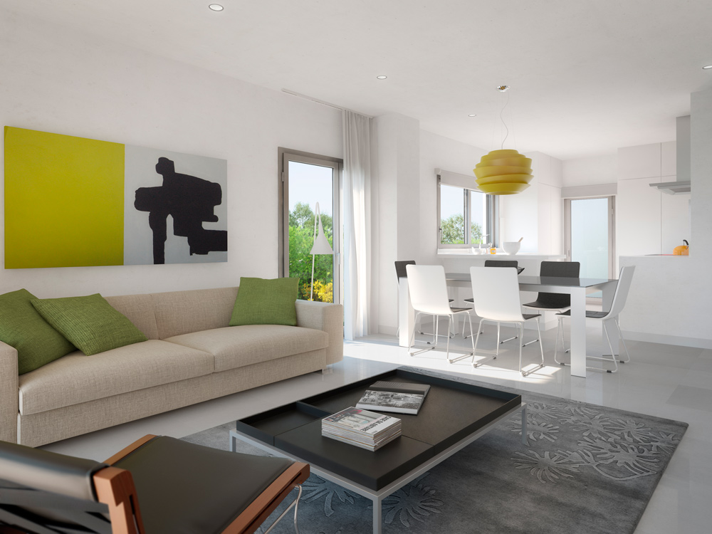 architectural rendering residential mallorca