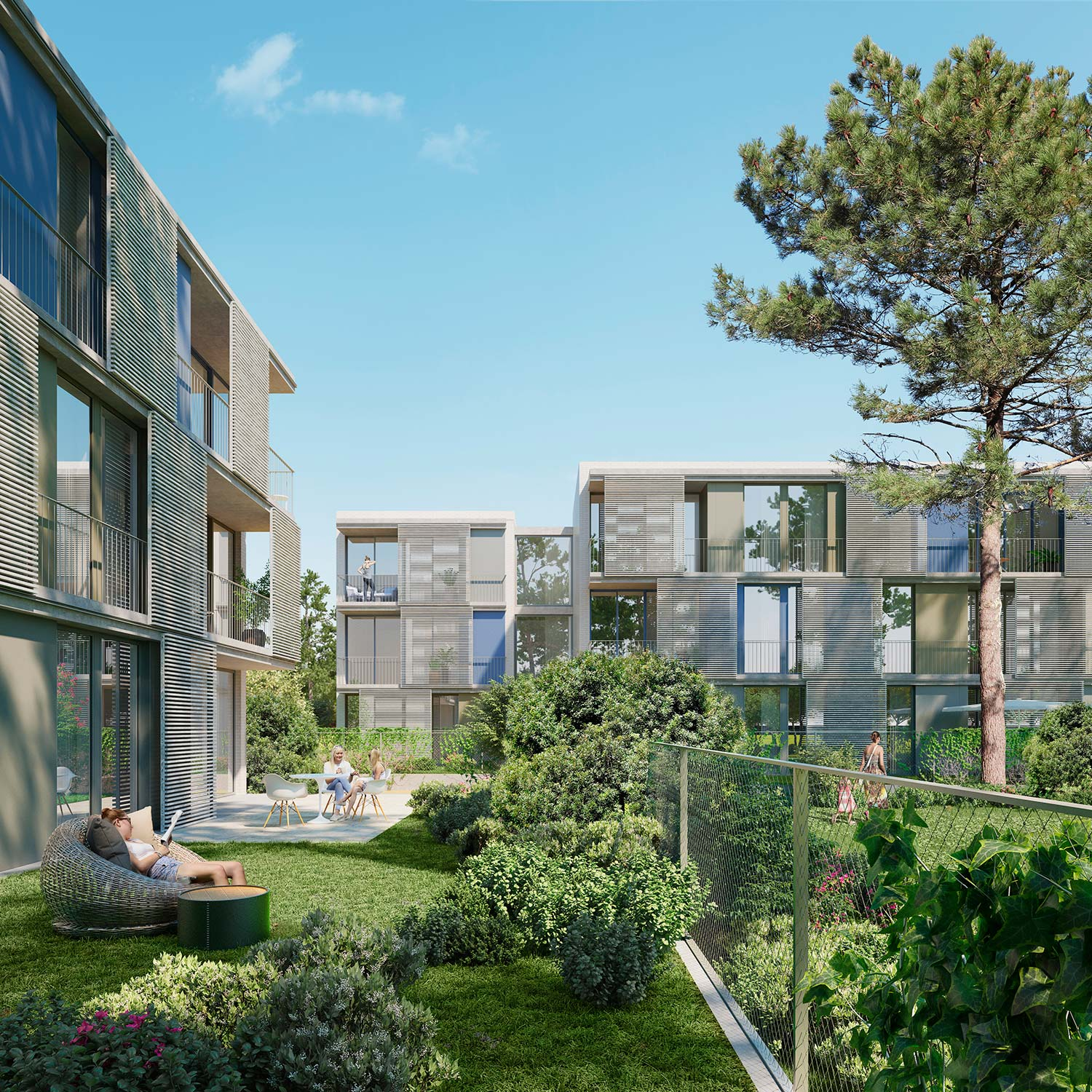 architectural rendering residential building in Platja d'Aro