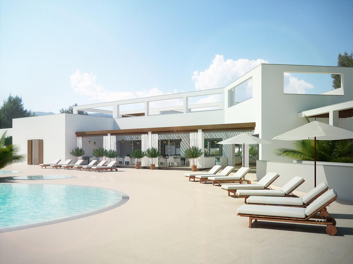 architectural rendering restaurant ibiza