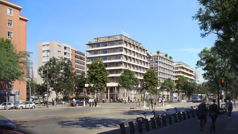 Architectural rendering Porte Saint Ouen