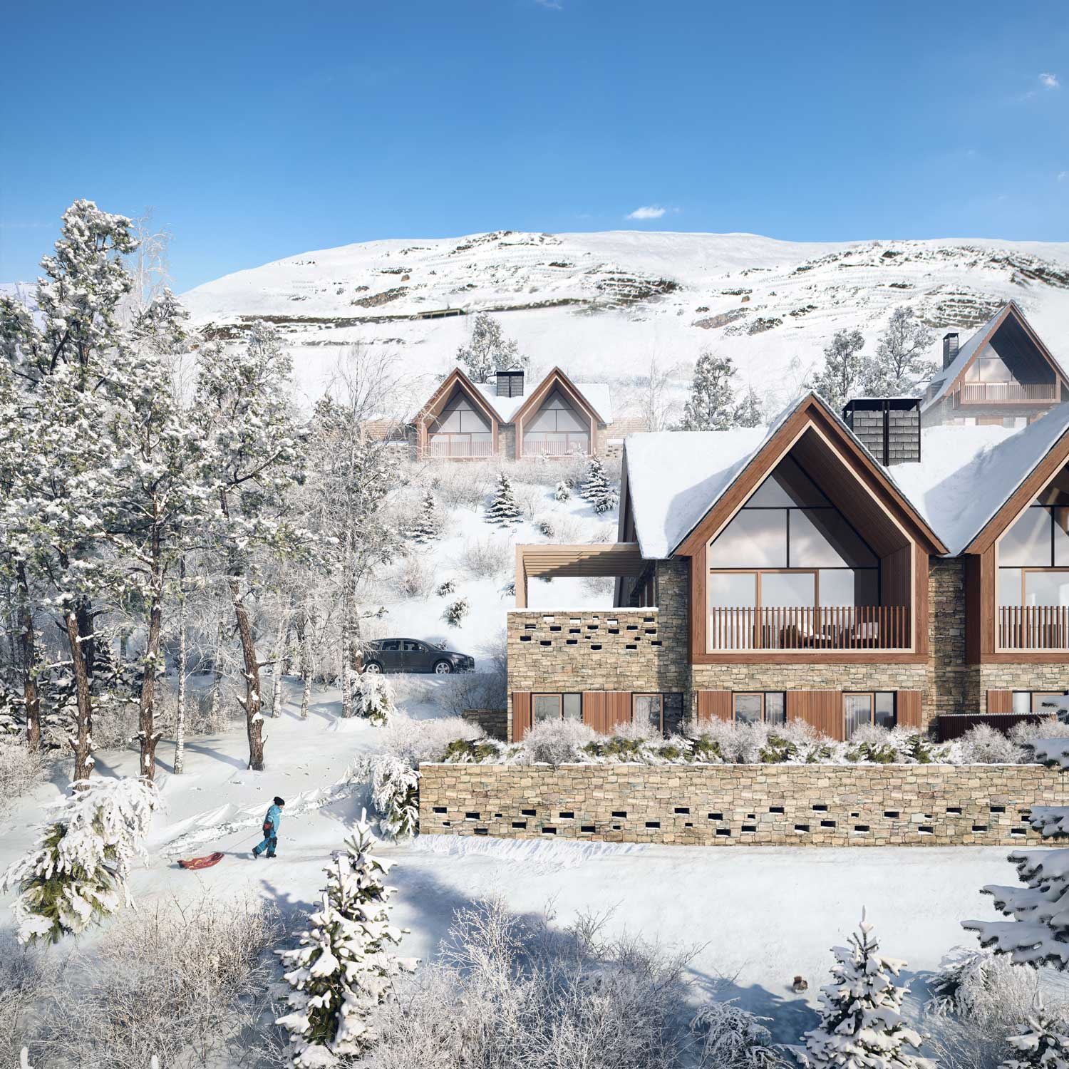 architectural renderings homes in Vall Aran
