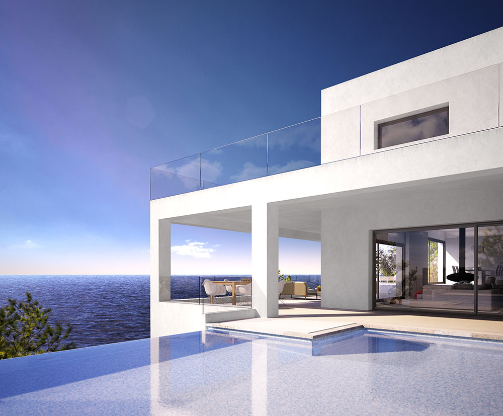 architectural visualisation house in ibiza