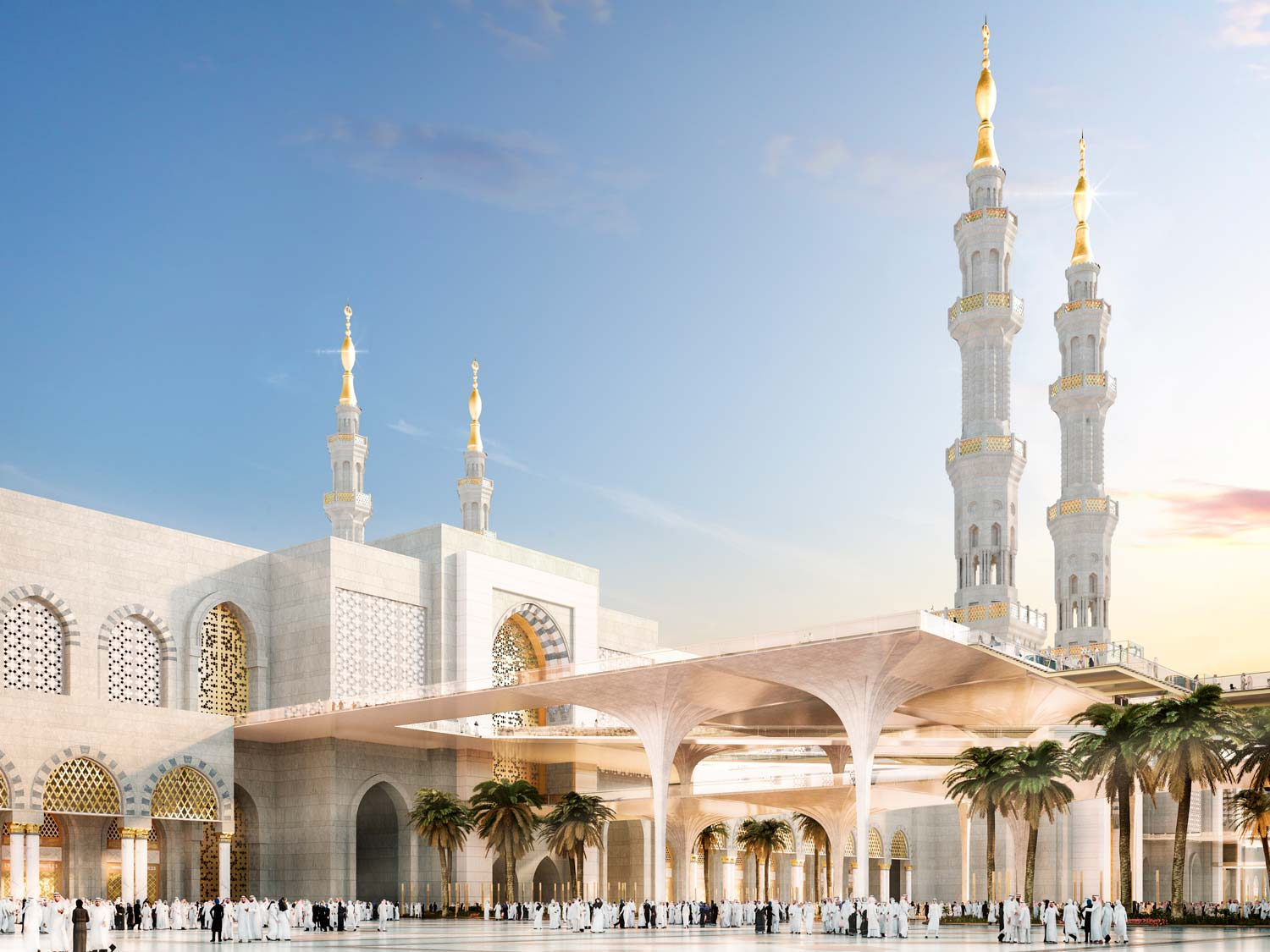 architectural visualisation medina mosque