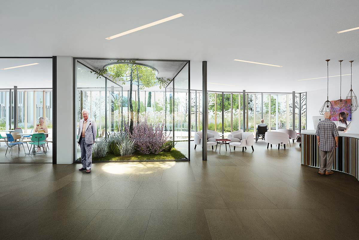 architectural visualisation swiss nursing home