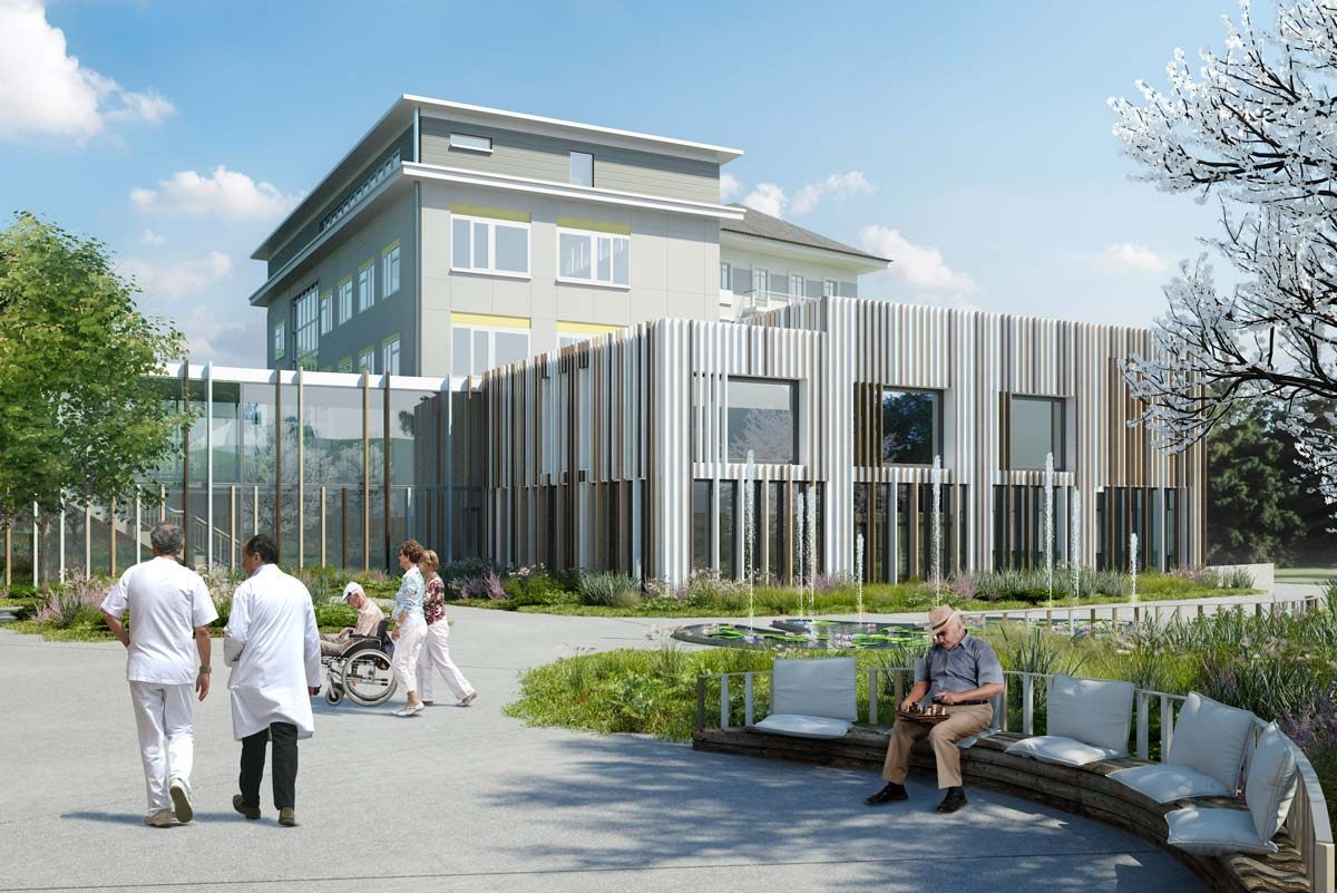 Architectural rendering architectural visualisation of a Nursing home architecture