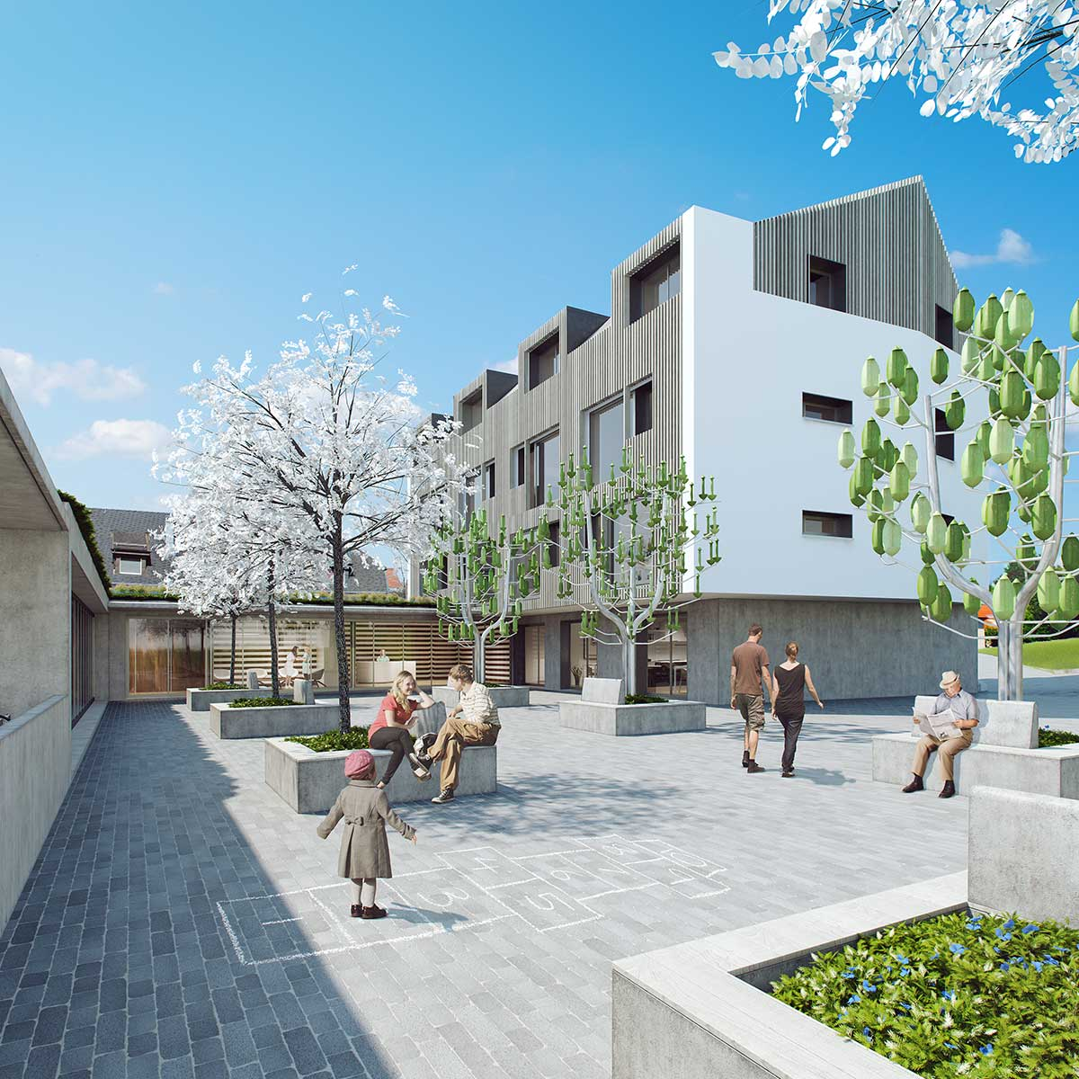 architectural visualization building Switzerland