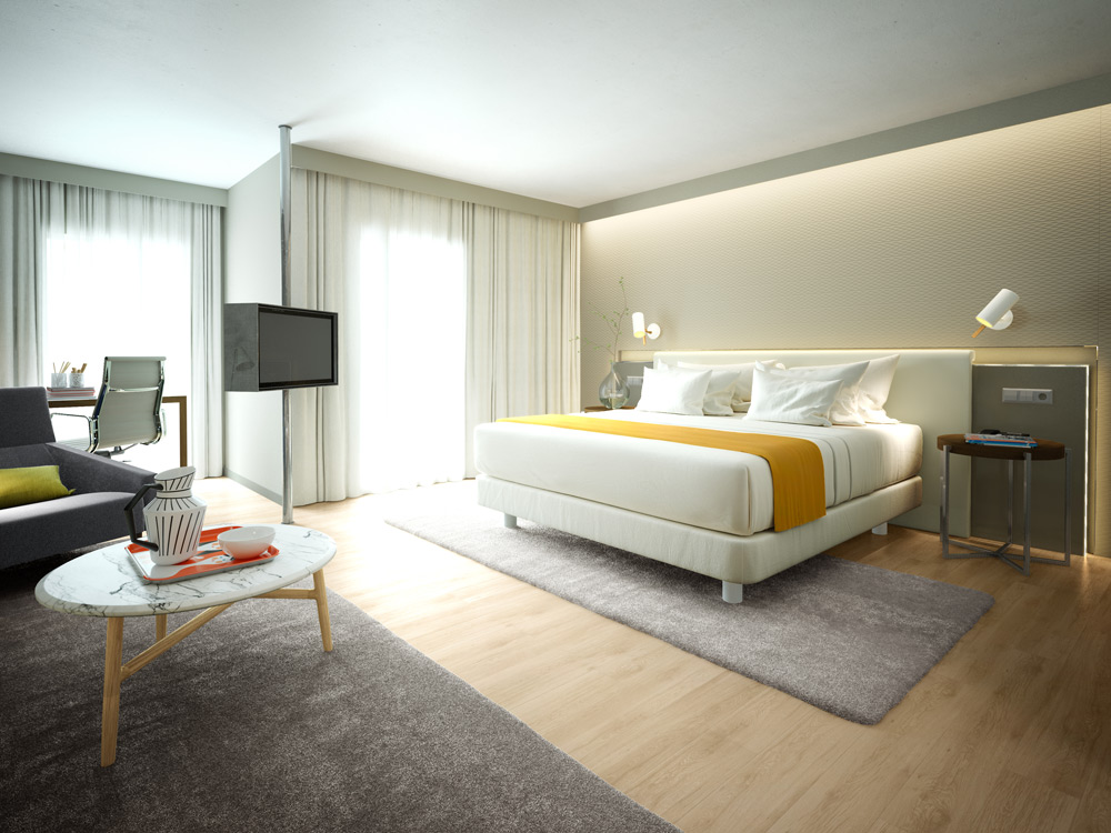 Architectural rendering architectural visualization for for Hotel design course