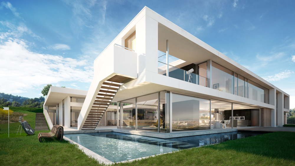 Architectural rendering architectural visualization of a for La architecture
