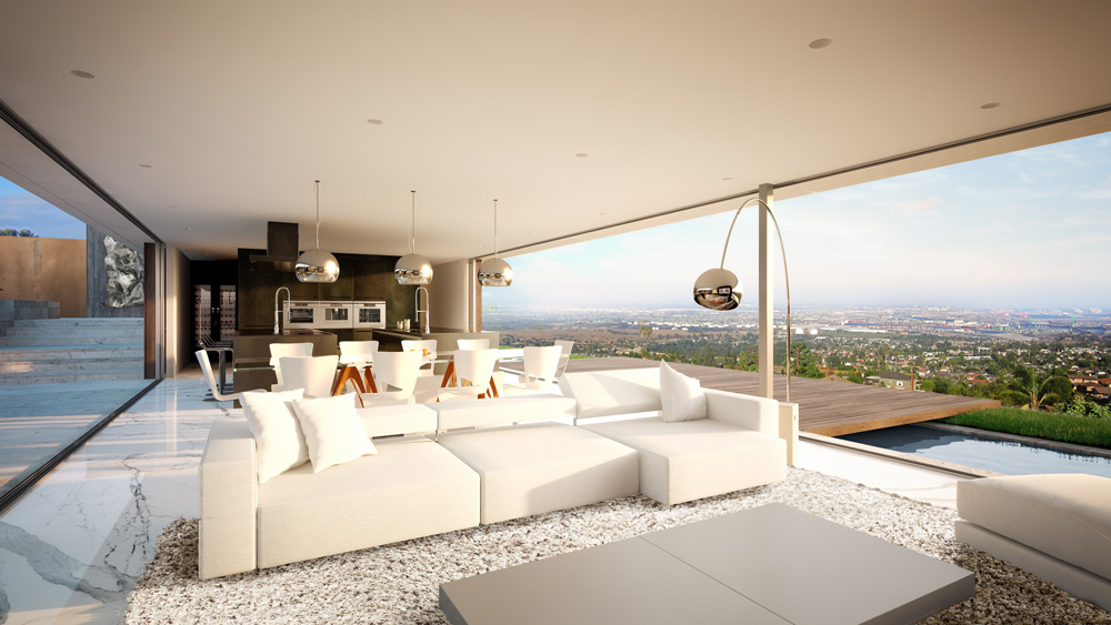 architectural visualization luxury house