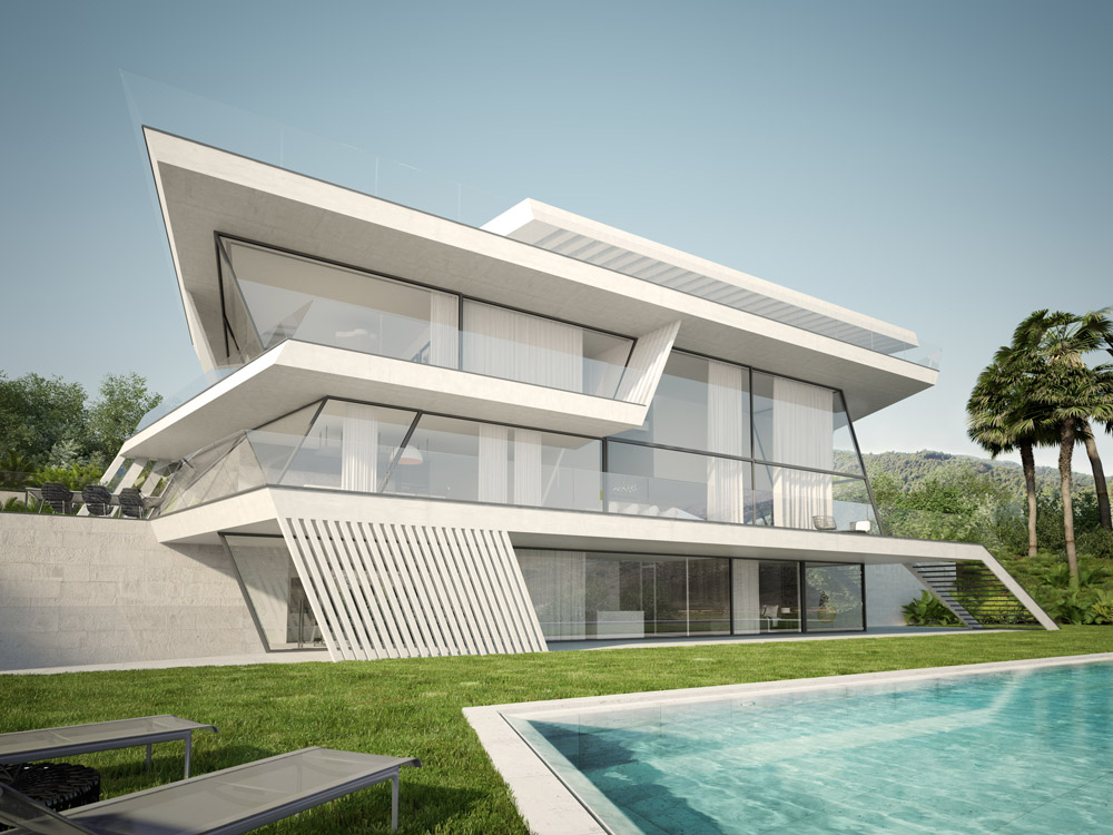 Architectural rendering architectural rendering of a for Home architecture
