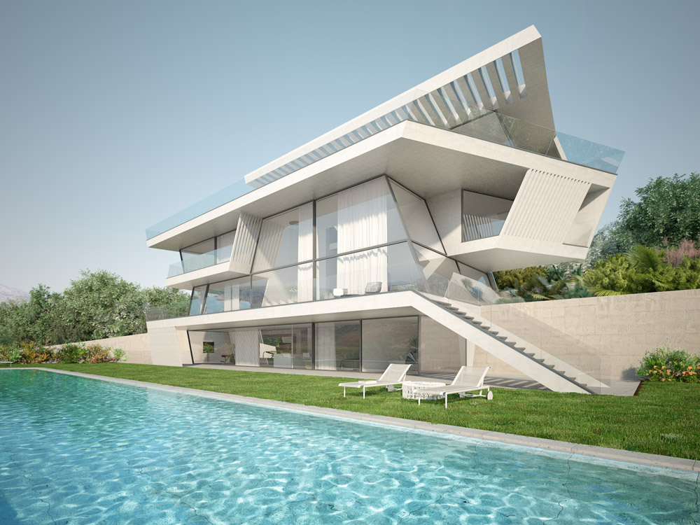 architectural visualization single house