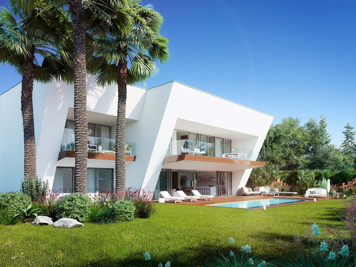Architectural visualization of a villa in Marbella