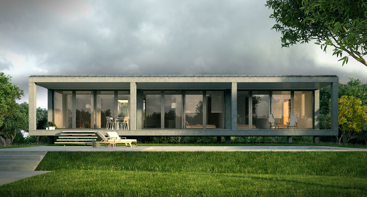 exterior rendering detached house
