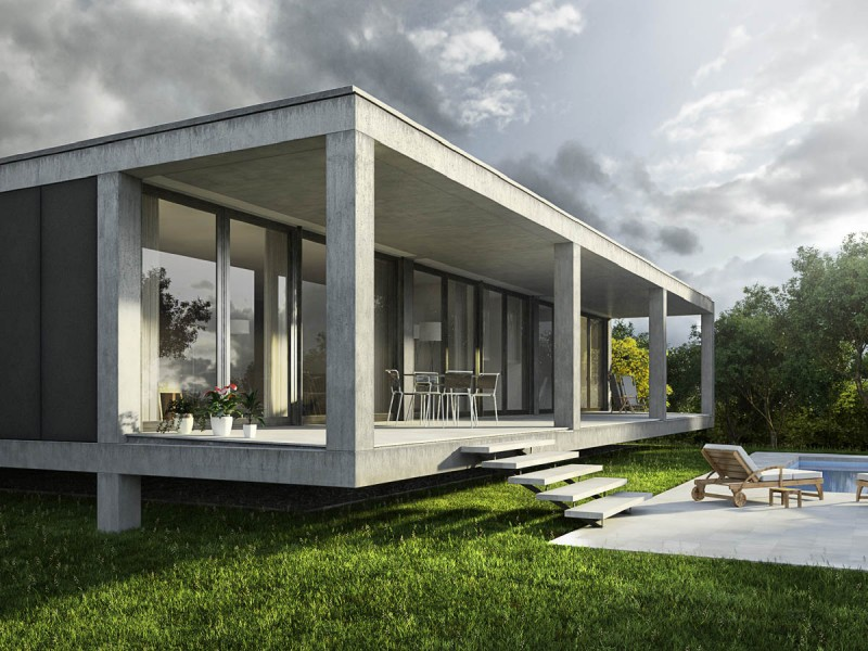 Architectural Rendering Exterior And Interior Renderings Of A Detached House In Cala Pi Mallorca