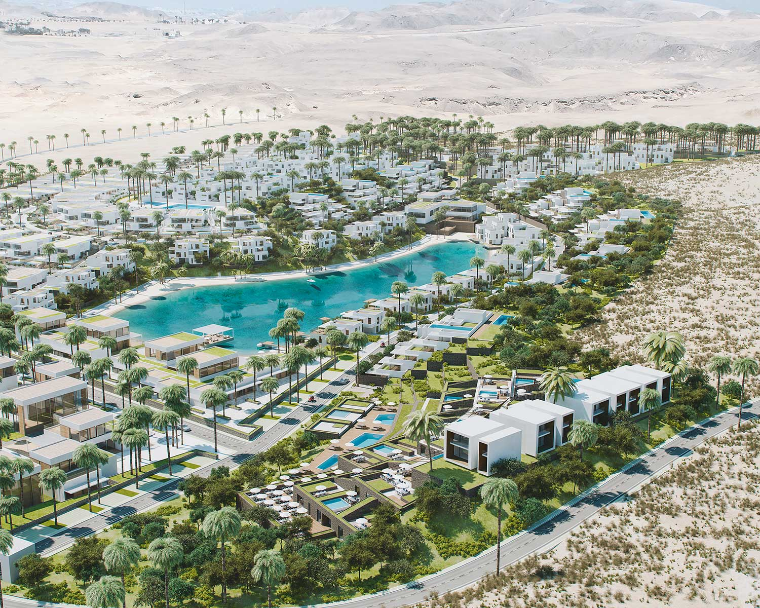 Design and architectural visualizations Masterplan in Egypt