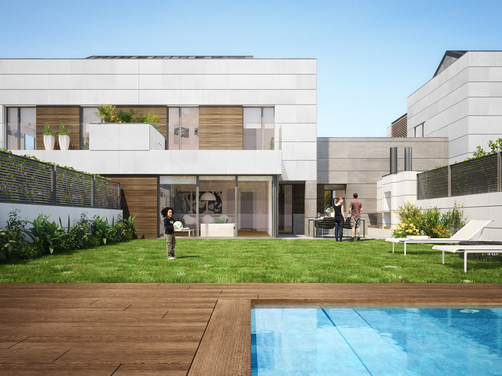 exterior architectural rendering madrid