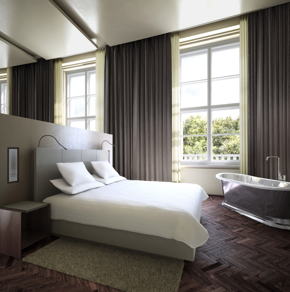 interior 3d rendering hotel berlin suite 2