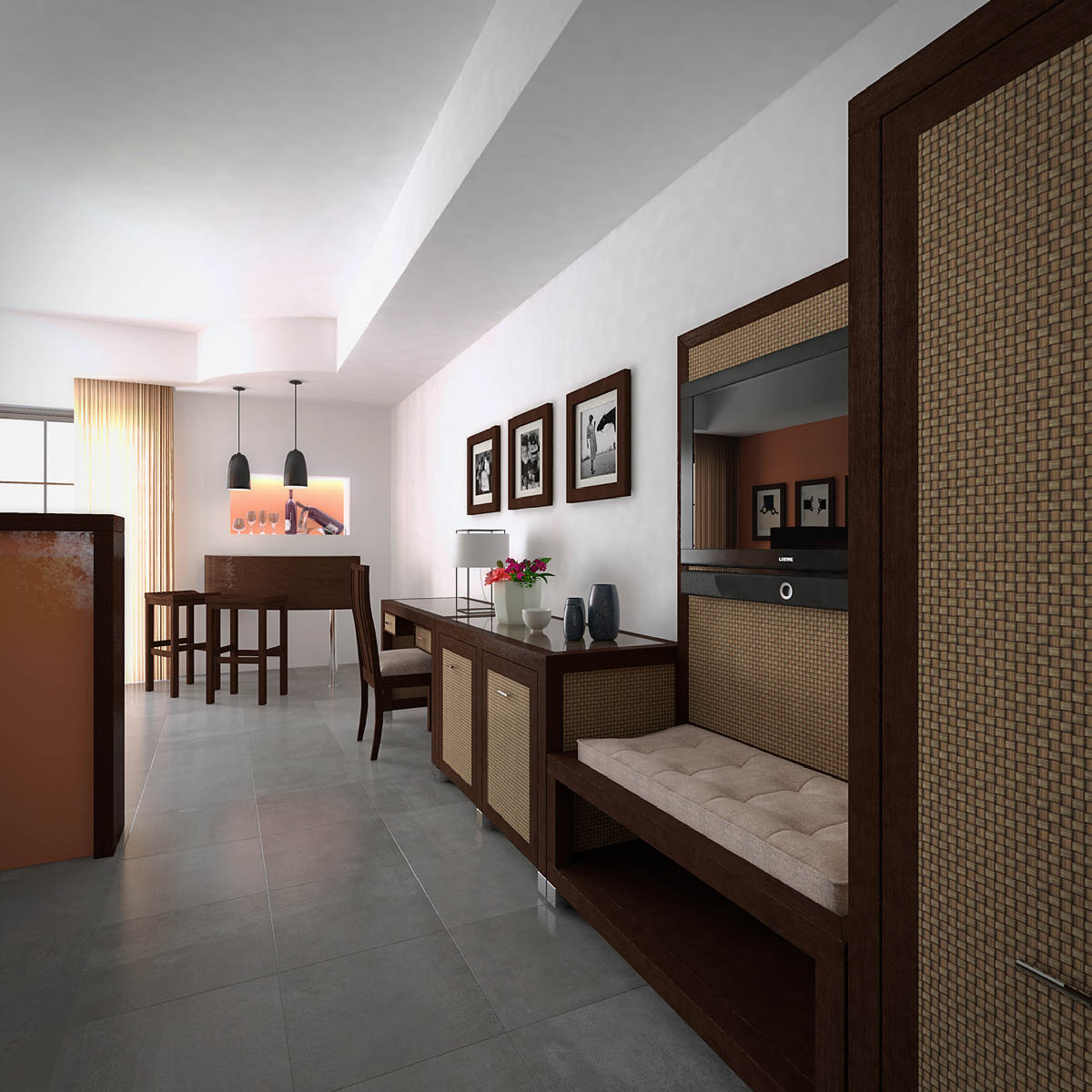Architectural rendering 3d interior renderings of the for Lanzarote design hotel