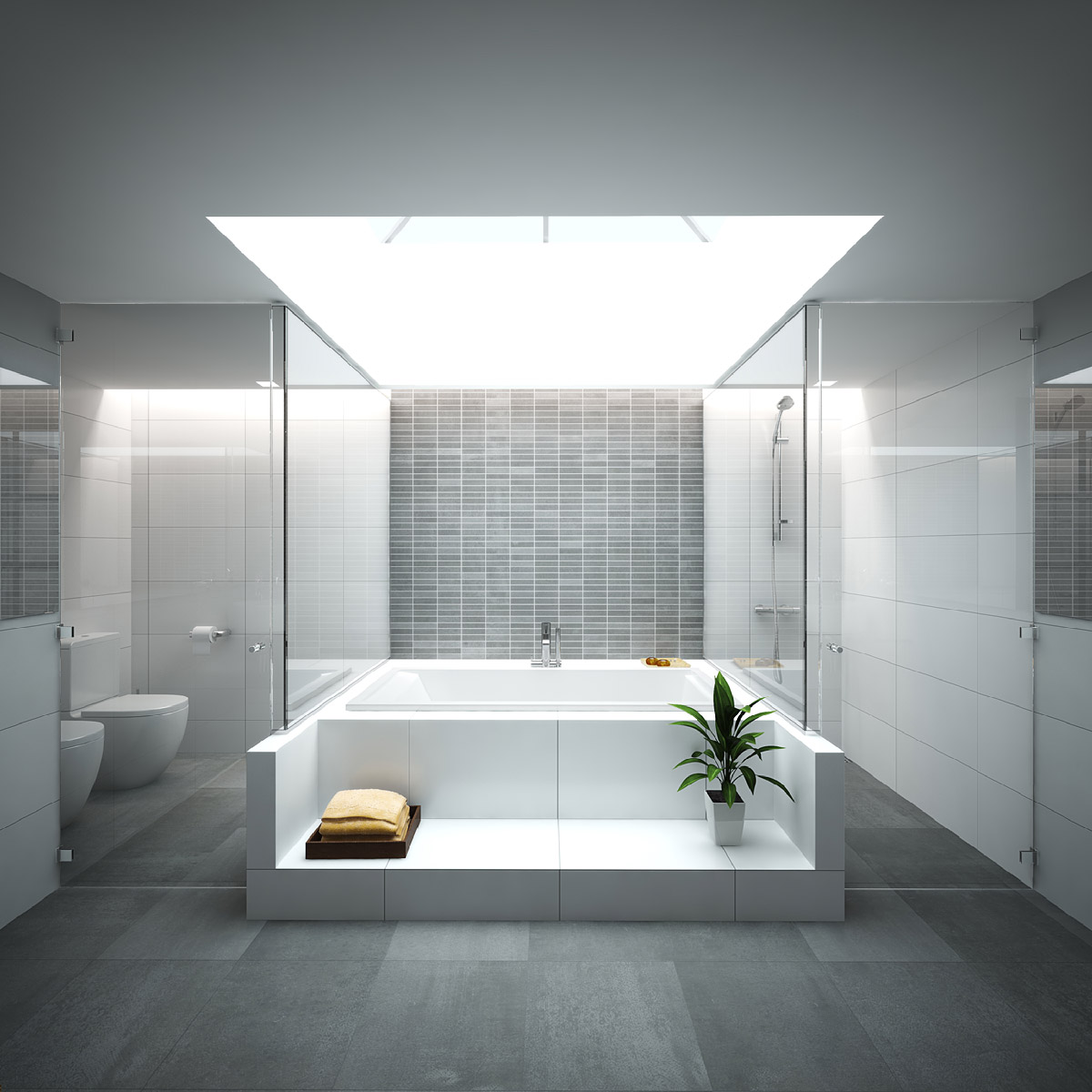 3d rendering hotel bungalows lanzarote 2